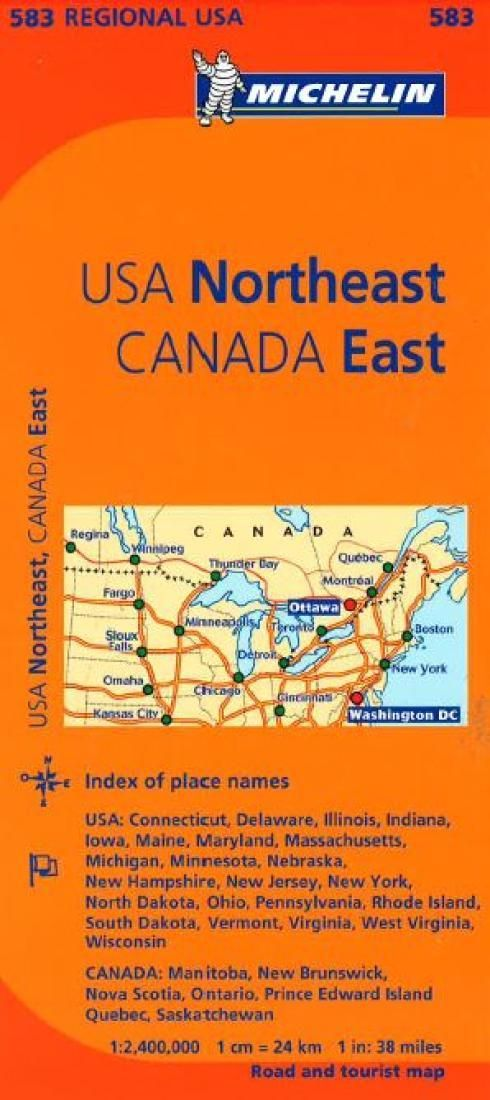 United States, Northeastern and Canada, Eastern (583) by Michelin Maps and Guides