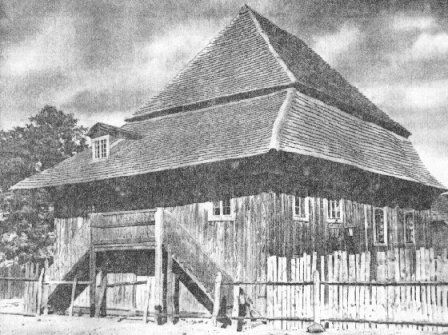 The Wooden Synagogue of Warka. Warka, Poland. (Source: Avotaynu.com) - My Newmark ancestors were in Warka in the late 1800s.