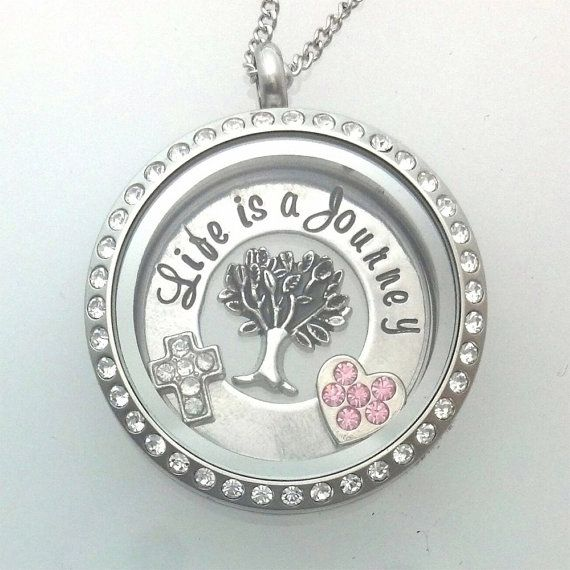 Life is a Journey  Floating Charm Locket  by BaWStampedDesigns, $42.00