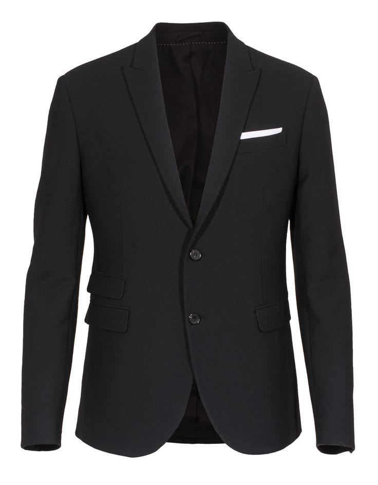 #NeilBarrett 2Btn Tecno Black new wool blend blazer