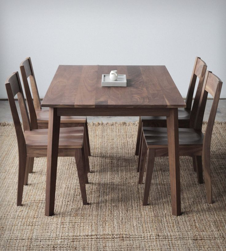 Oak Wood Table And Chairs: Solid Wood Dining Room Table And Chairs