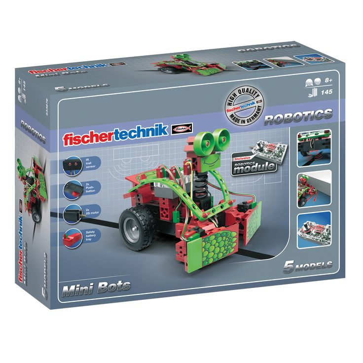 Fischertechnik Mini Bots Stem Set 145 pieces