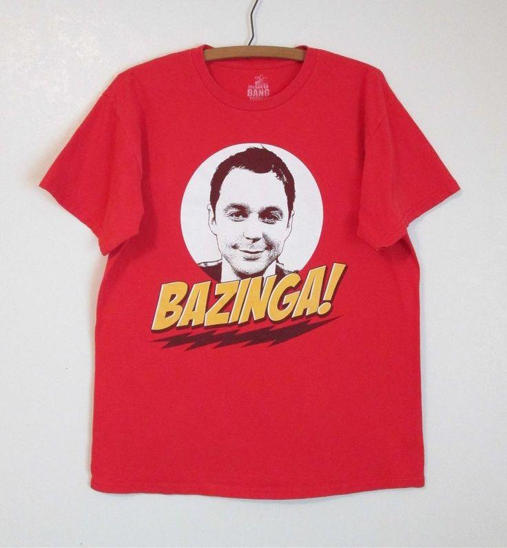 Big Bang Theory T-Shirt Sheldon Bazinga Red Cotton Medium #Bazinga #sheldon #bigbangtheory #tshirt #mediumtshirt #GraphicTee