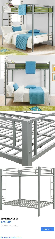 Kids Furniture: Bunk Beds On Sale Kids Full Size Over Double Teen Bedroom Loft Furniture Silver BUY IT NOW ONLY: $249.95 #priceabateKidsFurniture OR #priceabate