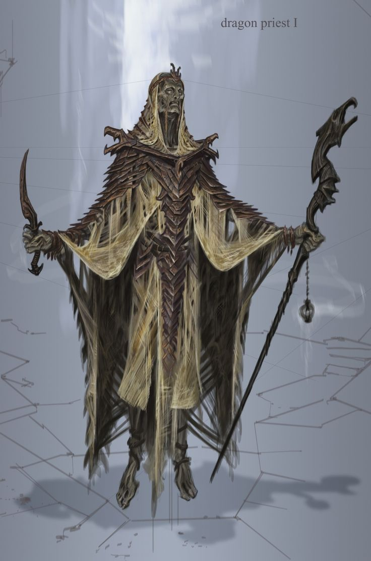 Dragon Priest #ConceptArt from The Elder Scrolls V: #Skyrim by #AdamAdamowicz