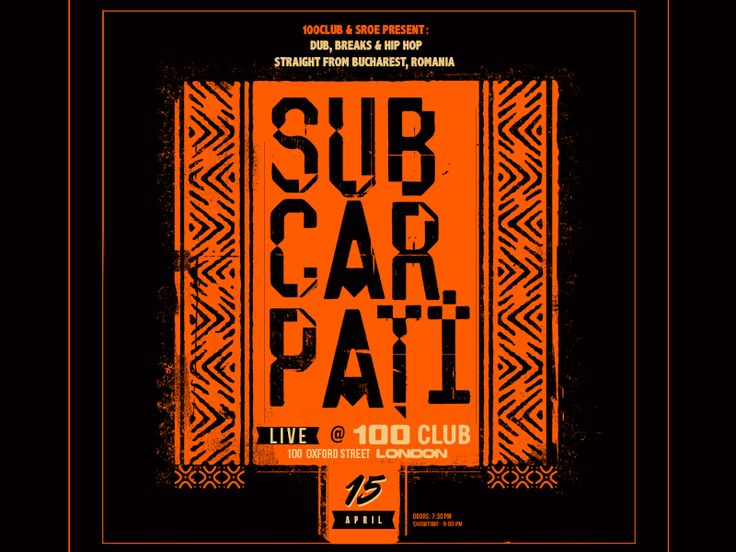 Subcarpati gig poster #illustration #typography #subcarpati #graphicdesign #poster