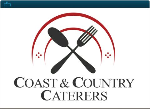 Design by DrawBlue.com - Coast & Country Caterers -  Custom Logo Design -  Located in Cloverdale, BC. Coast & Country Caterers is a diner that serves lunch and dinner with catering menus and delivery.