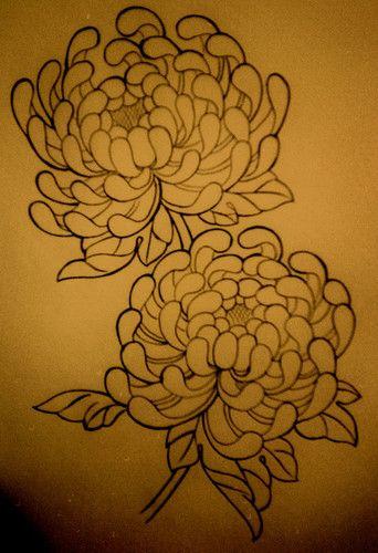 crisantemo tattoo oriental - Buscar con Google