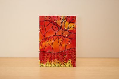 ACEO original abstract watercolor painting,orange,yellow,ink,miniature art | eBay