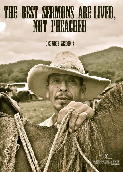 Old Cowboy Quote | Nicaragua