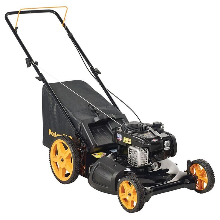 Gas Lawn Mower With Bag