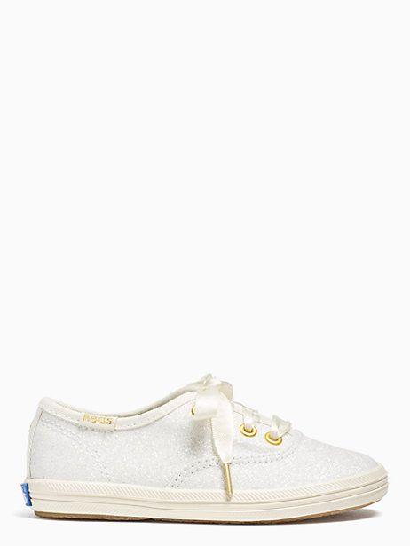 Keds Kids X Kate Spade New York Champion Glitter Toddler Sneakers, Cream - Size 7.5