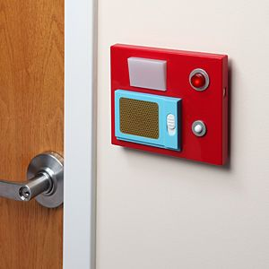 Star Trek Door Chime from Think Geek for $29.99. I have to get this for my dad's closet.