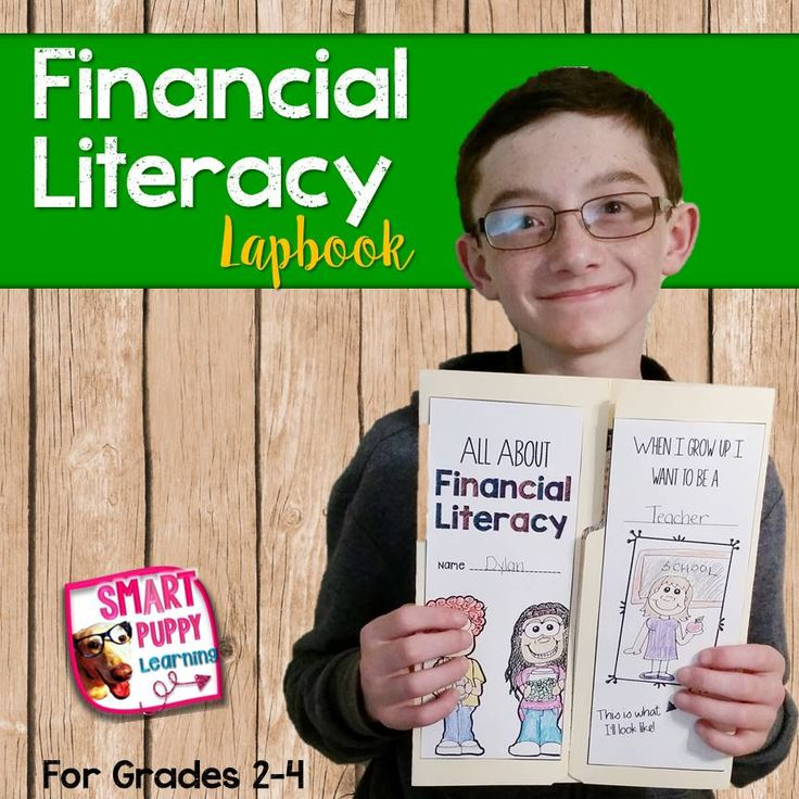 Financial Literacy Lapbook fun!  An entire week of activities including vocabulary and math problems for Financial Literacy!