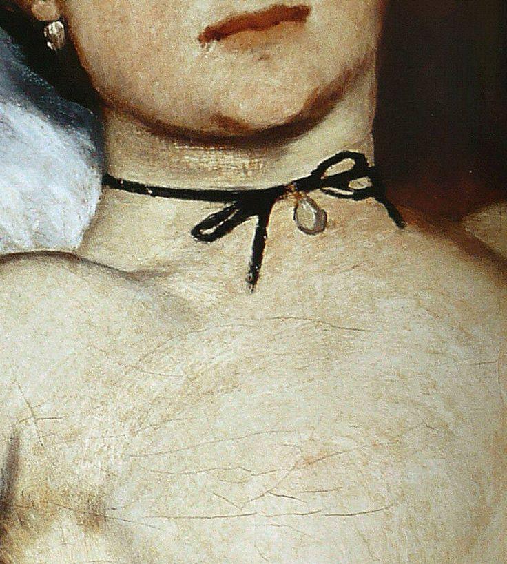 Olympia (detail) - Edouard Manet - Black Ribbon