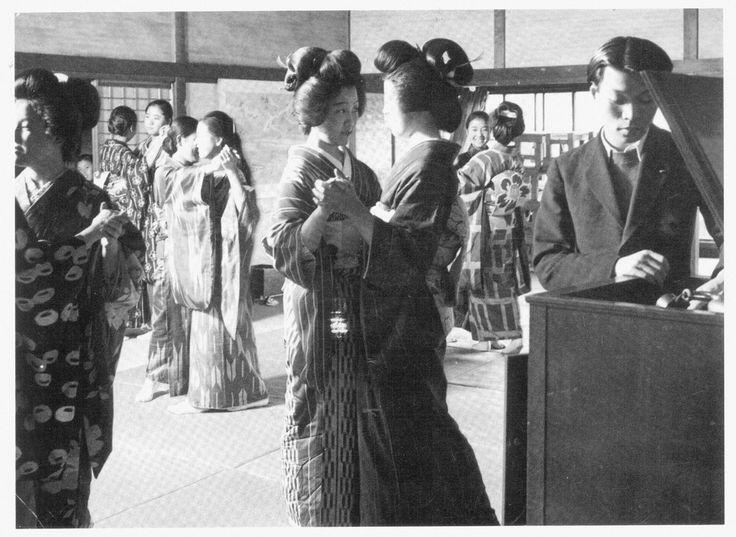 Geiko practicing Western-style dance Meiji & Taisho Romantica