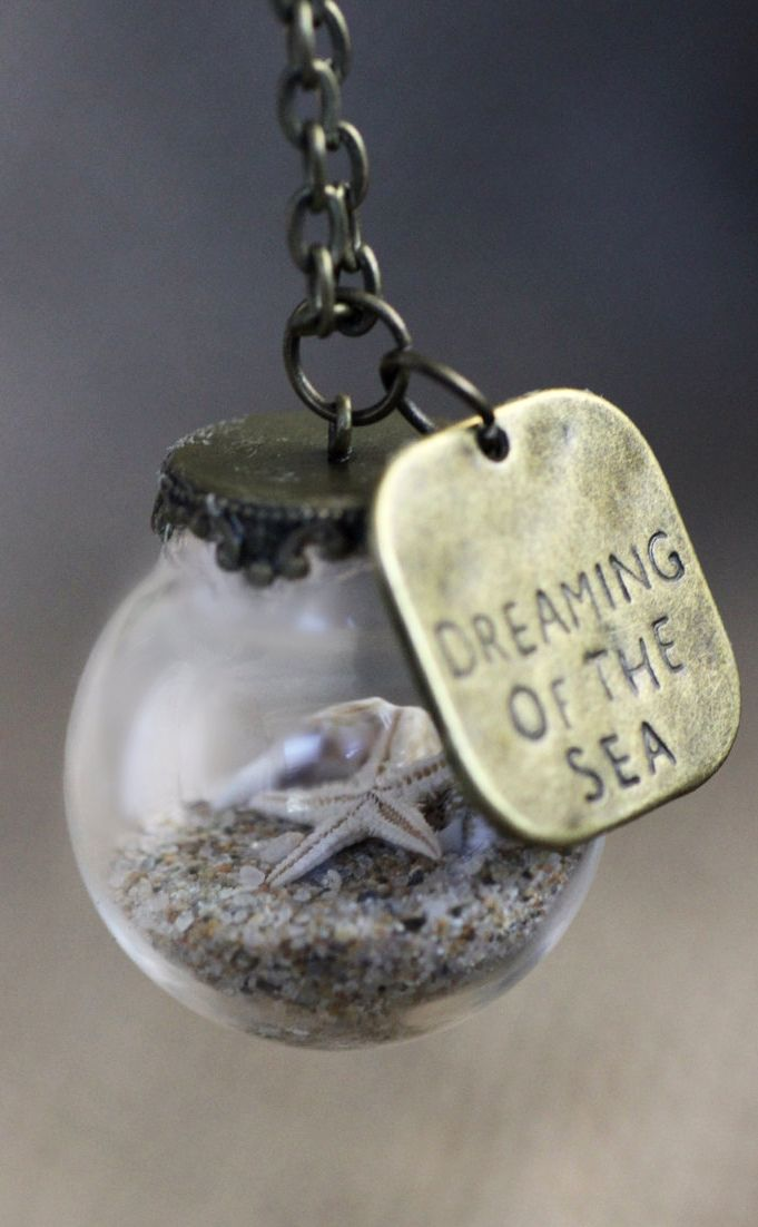 Miniature Beach necklace. Dreaming of the Sea right now and alway dreaming of the sea