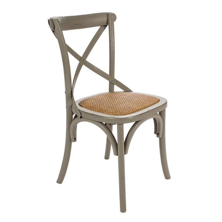 Cross Stuhl dunkel grau von #Bizzotto  ab 163,00 € Das klassische Design sorgt für ein tolles Ambiente und passt mit seinem Designwunderbar in jeden Raum.  #Massivholzmöbel #Vollholzmöbel