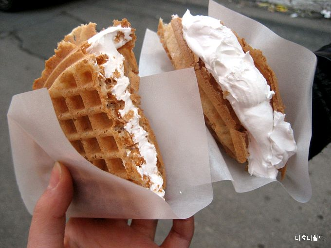Homemade waffle ice cream sandwiches!! Why did I never think of this?!