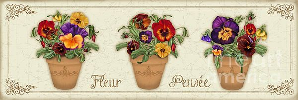 New print available on plout-gallery.artistwebsites.com! - 'Fleur Pensee-jp3014' by Jean Plout - http://plout-gallery.artistwebsites.com/featured/fleur-pensee-jp3014-jean-plout.html