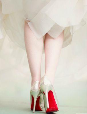 Christian Louboutin bridal shoes!