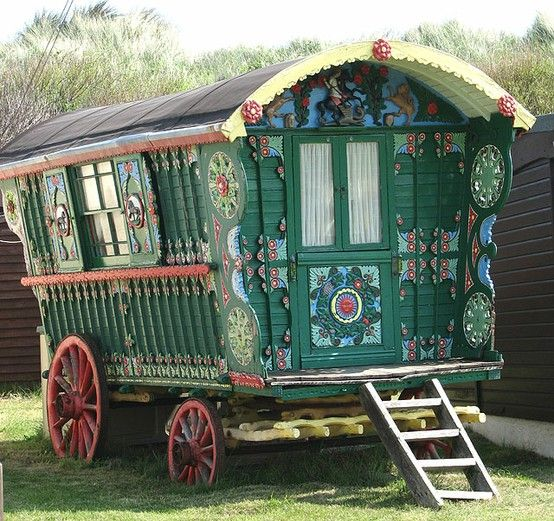 I adore gypsy wagons. This one is gorgeous
