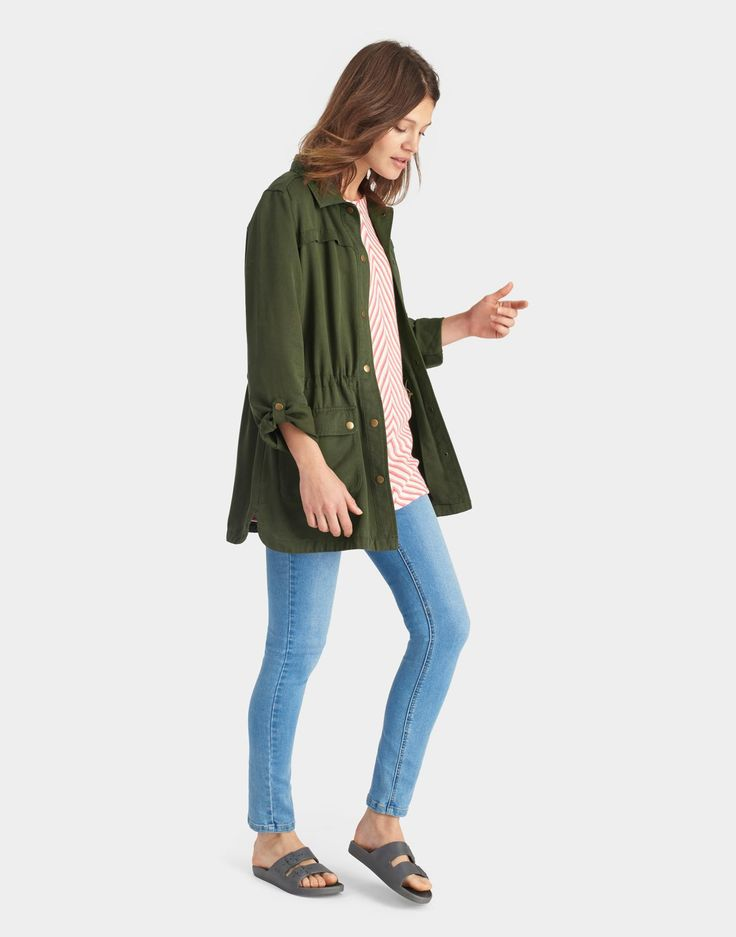 Cassidy Soft Khaki Safari Jacket  | Joules US