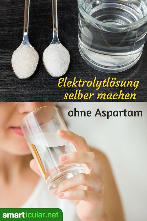 Als schnelle Hilfe bei Durchfall, Kater und körperlicher Anstrengung kannst du ein einfaches Elektrolytgetränk leicht aus Hausmitteln selber mischen.