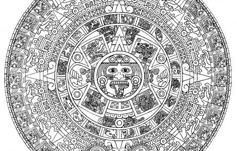 aztec calendar coloring page - aztec calendar coloring pages cose da comprare