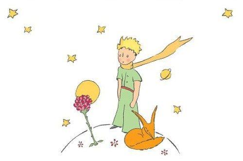 le petit prince; le renard et la rose