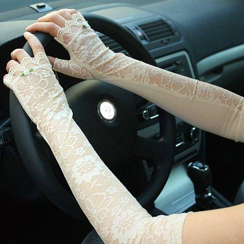 Tiny Rose Shape Lace Anti-UV Fingerless Gloves – teeteecee - fashion in style