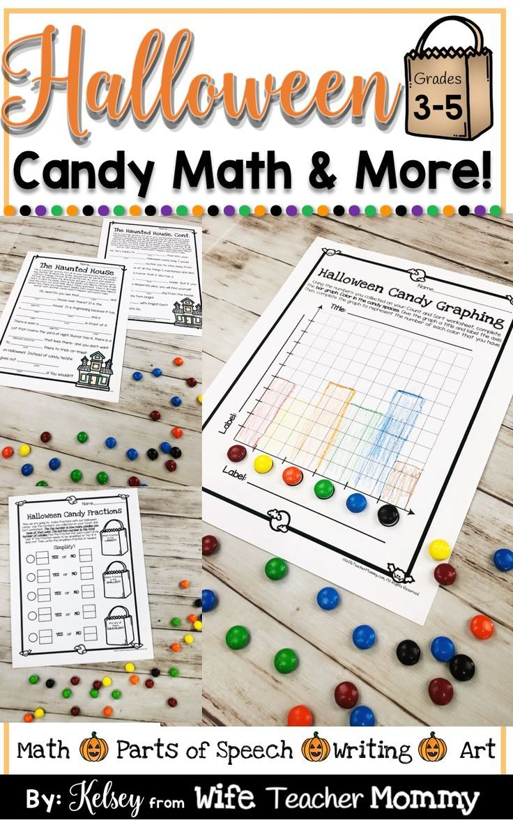 Halloween Math And More For Upper Grades These Halloween Candy Math Activities Are Perfect 3rd Grade Halloween Candy Math Candy Math Activities Halloween Math