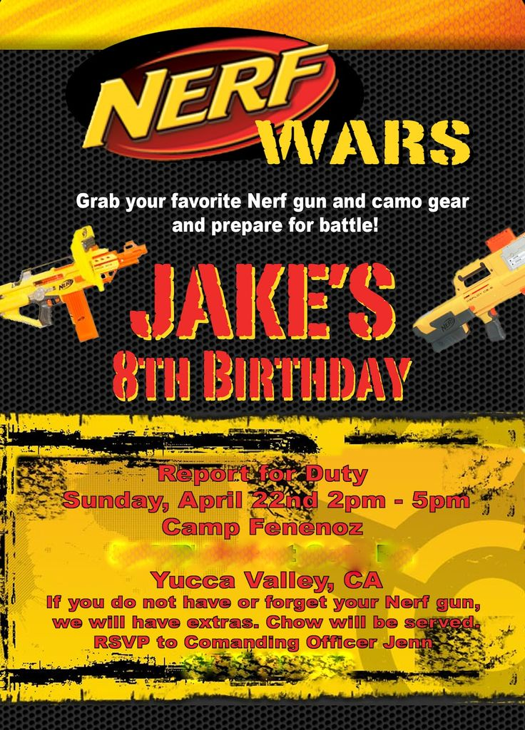 Jake really wanted to have a Nerf themed birthday party and for the first time, I couldn't just jump on a party supply website and order ev...
