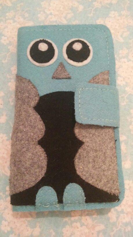 Hjemmelavet cover til telefonen, lavet på det gamle cover, som var slidt :)