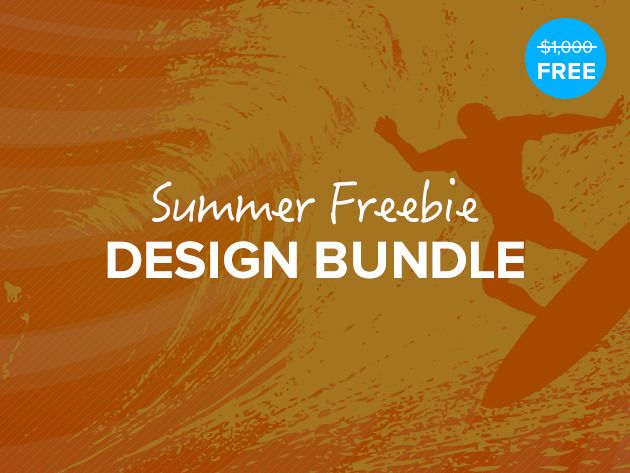 The Summer Freebie Design Bundle - Hundreds Of Assets To Make Your Designs Sizzle This Summer