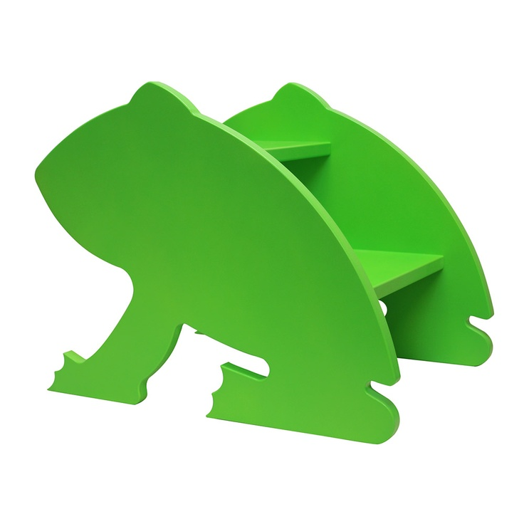 Manny & Simon Frog Step Stool  So bright & fresh for the bathroom!