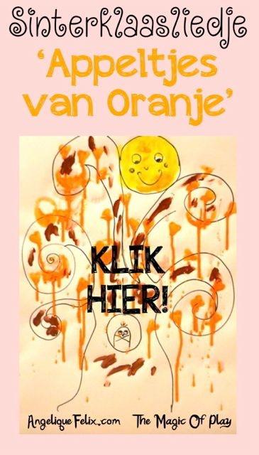 SINTERKLAAS 'Appeltjes van Oranje' - liedje & zelfgemaakte verf!   AngeliqueFelix.com