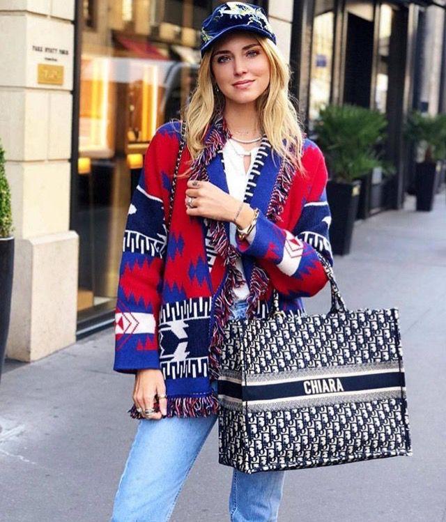 Chiara Ferragni Dior Tote Bag Con
