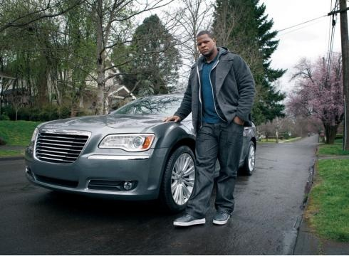 A Chrysler 300 ad featuring NFL rookie star Ndamukong Suh