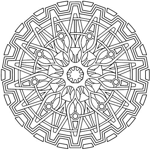 Printable Mandala Meditation Coloring Pages With Free