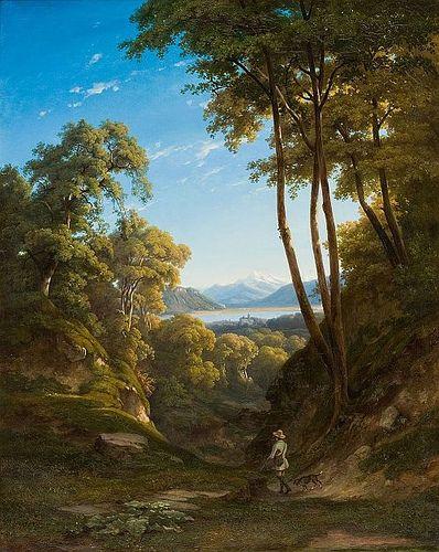 Romantischer Blick auf Genfer See (1860) | Jean Philippe Geo… | Flickr