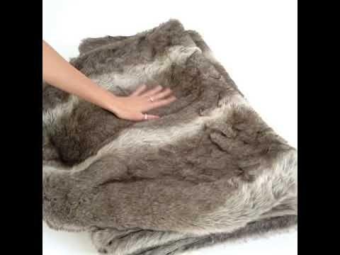 Husky Brown Faux Fur Throw | Luxury Throw