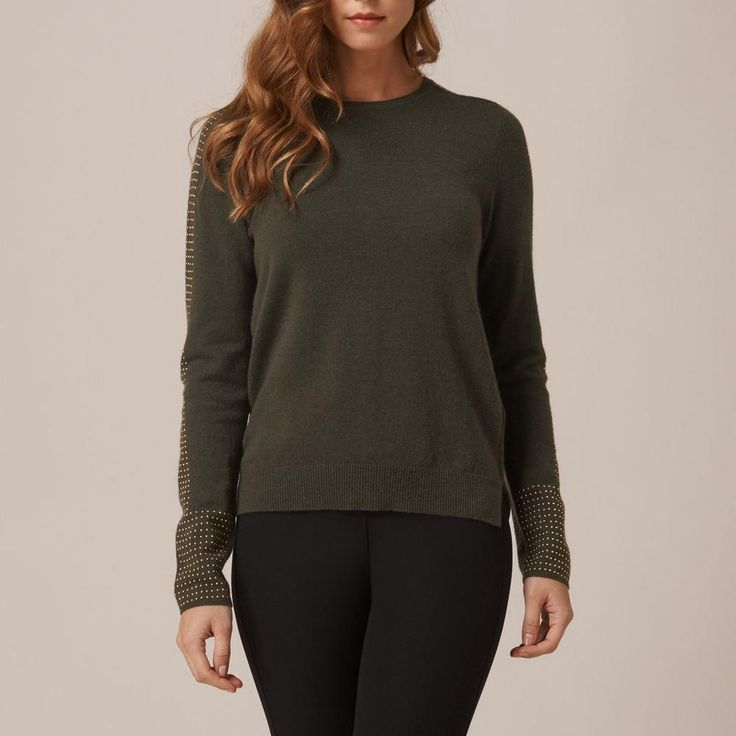 Adel Green Studded Sweater   L.K.Bennett, London