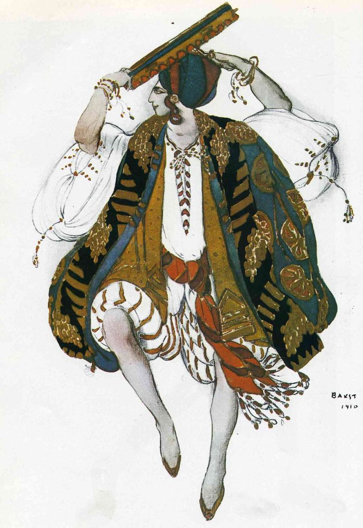 Leon Bakst, Costume design for Jewish Dancer in Cleopatre, 1910
