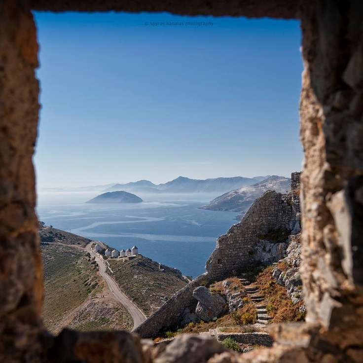 Leros island /view from the castle