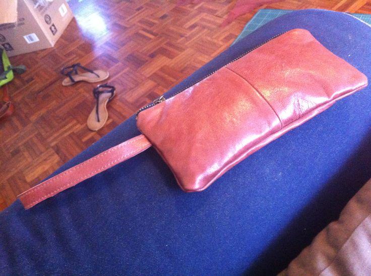 Brown leather purse by hunter & eve! www.hunterandeve.com
