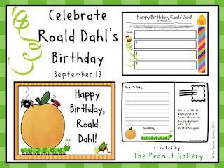 Celebrate Roald Dahl's birthday (September 13) with this FREEBIE!