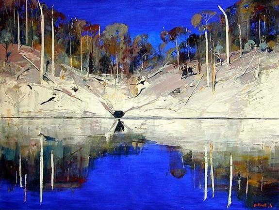 Arthur Boyd ~ High Noon, Shoalhaven... http://australianlandscapes.wikispaces.com/file/view/artwork_images_689_480736_arthur-boyd.jpg/188564683/575x434/artwork_images_689_480736_arthur-boyd.jpg