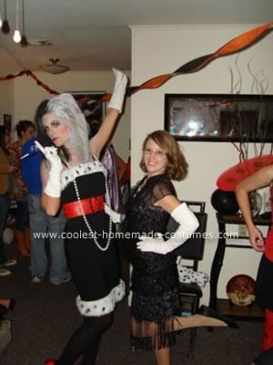 Homemade Cruella Deville Costume: This Homemade Cruella Deville Costume is my best costume so far. I took an old black dress (they're always good for something) and sewed faux fur around