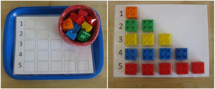 schoolKindergarten Math, Rainbows Activities, Lego Math, Math Ideas, Counting Coconut, Lego Duplo, Learning Activities, Learning Numbers, Legoduplo